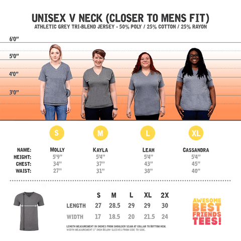 (Template) 01 Athletic Grey V Neck on a super comfortable Shirts for sale at Awesome Best Friends' Tees