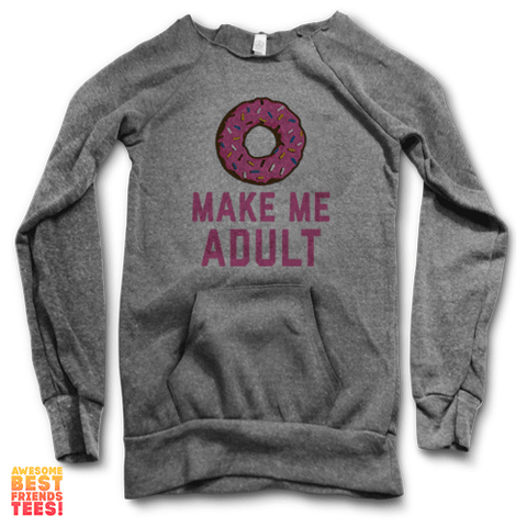 Make Me Adult | Maniac Sweater on a super comfortable Sweaters for sale at Awesome Best Friends' Tees
