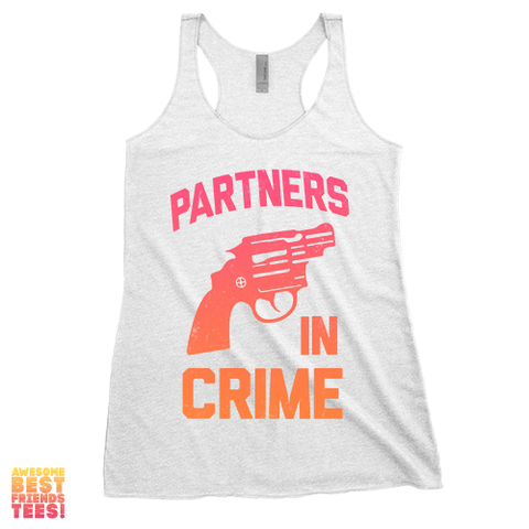 Partners In Crime (Black) Right | Racerback on a super comfortable Racerback for sale at Awesome Best Friends' Tees
