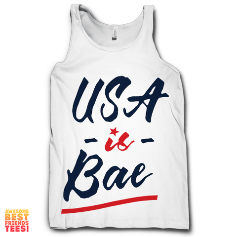 USA Is Bae on a super comfy Tanks at Awesome Best Friends' Tees!
