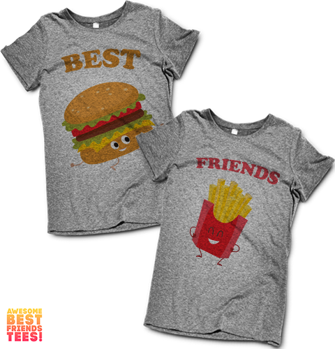 Best Friends Burger & Fries | Best Friends Shirts on a super comfortable Shirts for sale at Awesome Best Friends' Tees
