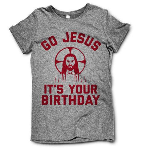 Go Jesus on a super comfortable shirtalt for sale at Awesome Best Friends' Tees