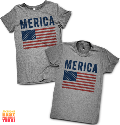 Merica | Couples Pairs on a super comfortable shirtalt for sale at Awesome Best Friends' Tees