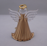 Gold Glass Angel Ornaments