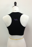 Black Zipper Pocket Sports Bra