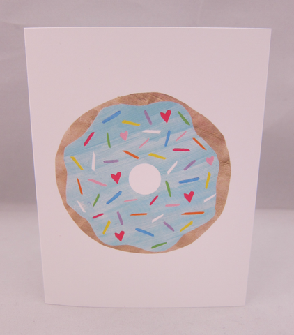 Blue Donut Thank You Card