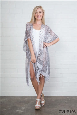 Simply Noelle Paisley Coverup with Tassels