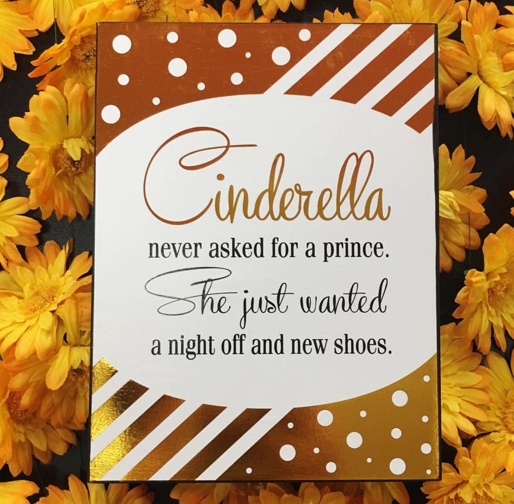 Cinderella Box Sign