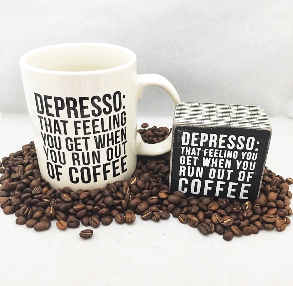 Depresso Box Sign