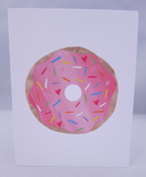 Pink Donut Card