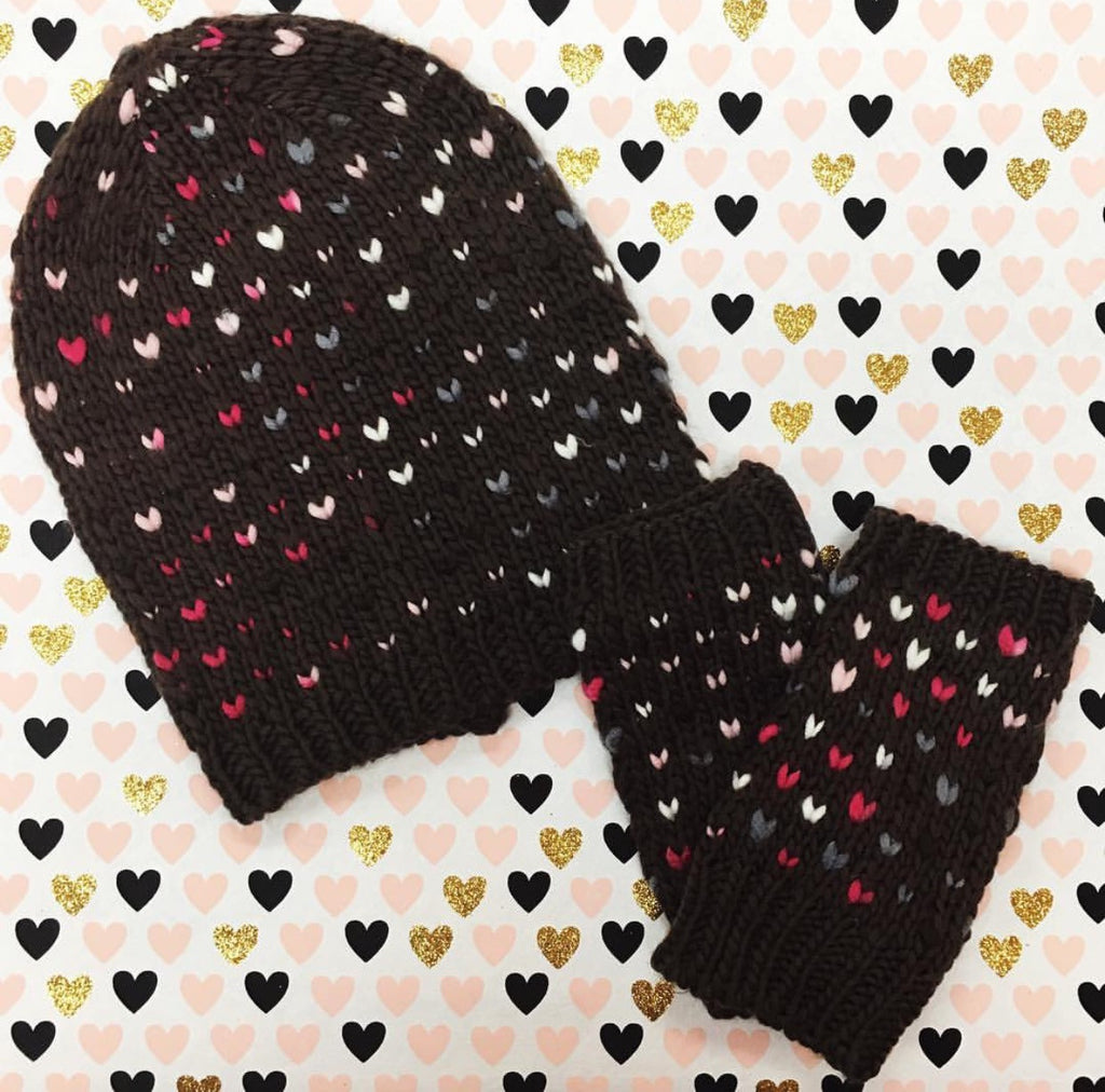 Cozy Multi-Colored Heart Hat