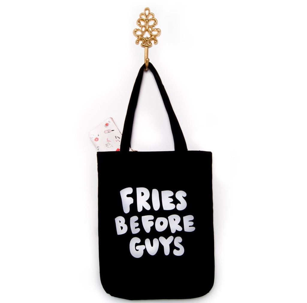 "Shop Bando ""Fries Before Guys"" Canvas Tote"