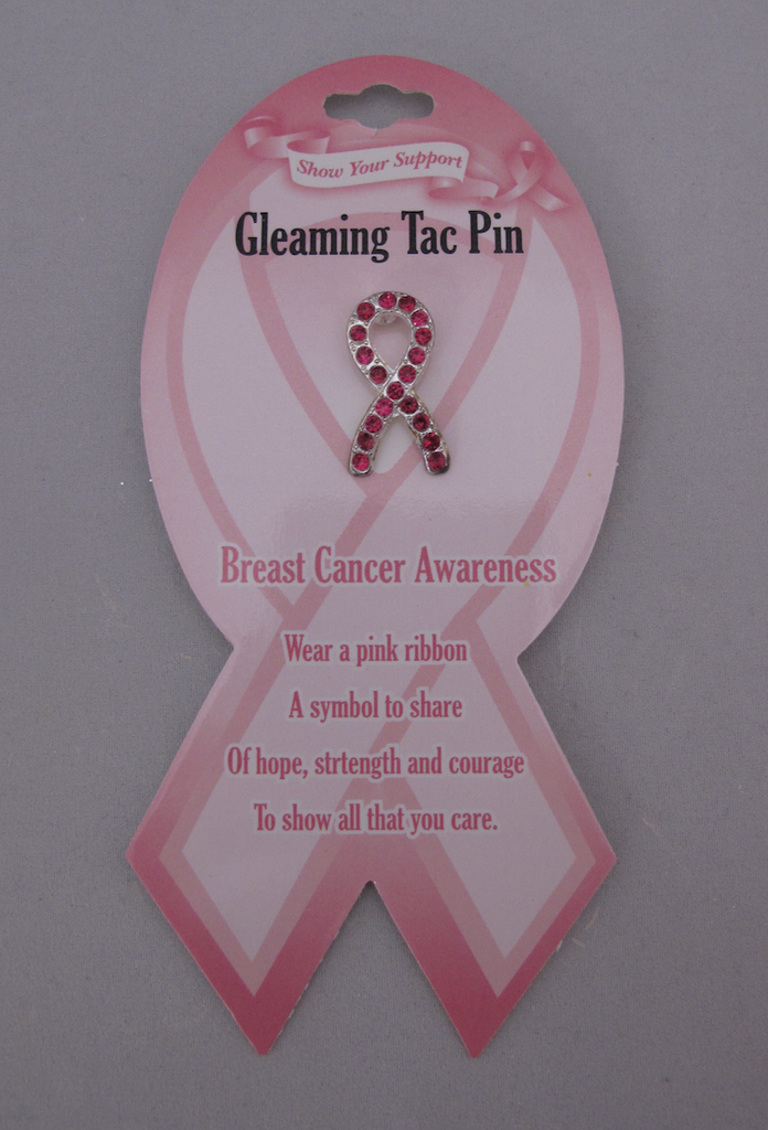 Breast Cancer Awareness Rhinestone Pin