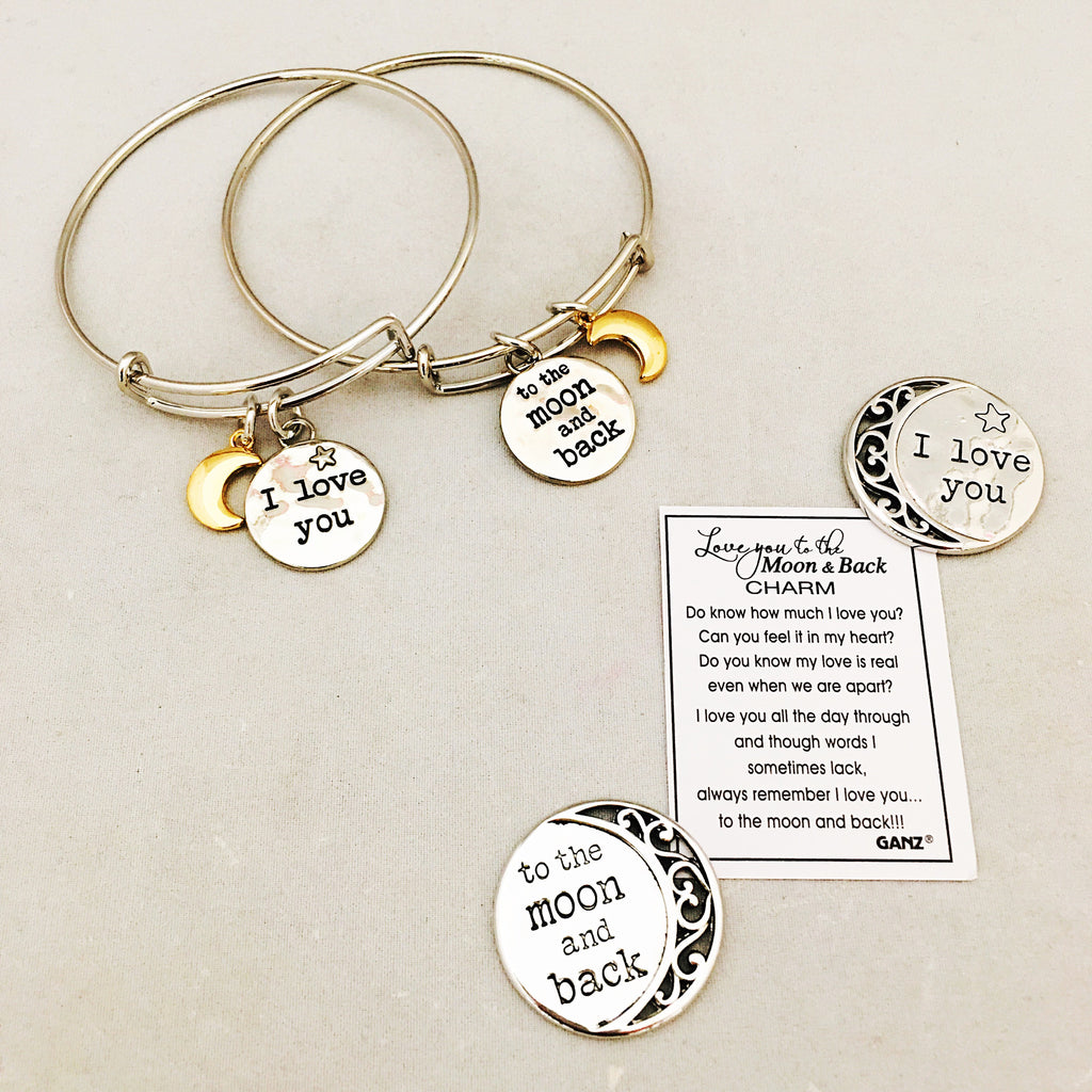 Love You To The Moon And Back Charms