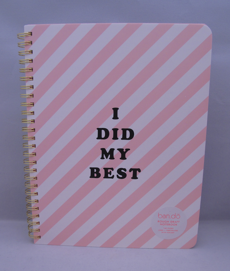 "Shop Ban.do ""I Did My Best"" Notebook"