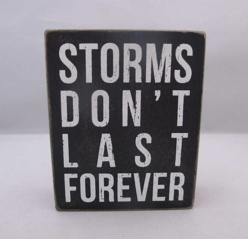 Stroms Don't Last Forever Box Sign