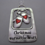 Christmas Warms The Heart Ornament