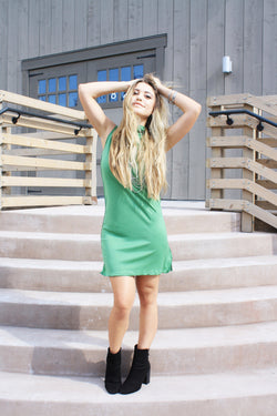 Joy Seeker Turtleneck Sleevless Dress