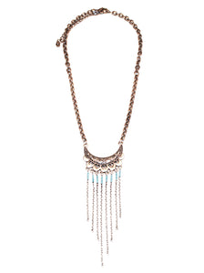 Bright Empire Tribal Fringe Necklace