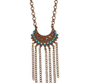 Bright Empire Fringe Necklace