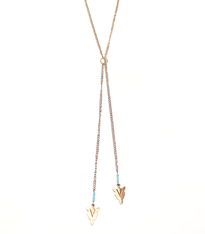 Wild Warrior Arrowhead Adjustable Necklace