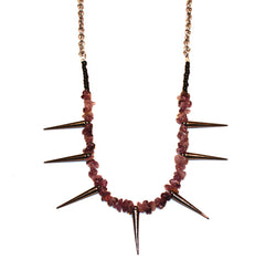 Earth Flower Stone Spike Necklace