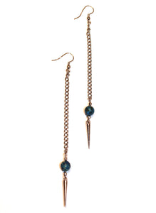 Deep Ocean Spike Earrings