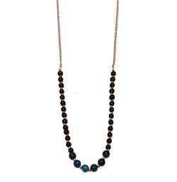 Deep Blue Moon Stone Necklace