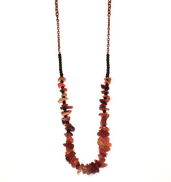Earth Fire Stone Necklace