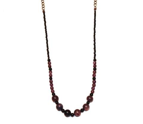 Deep Night Stone Necklace