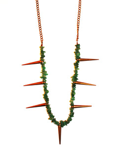 Earth Beauty Stone Spike Necklace