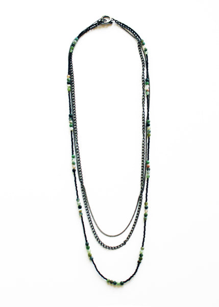 Night Rebel Beaded Chain Necklace