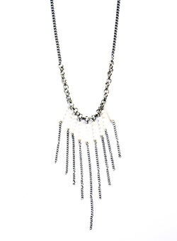 Ocean Rebellion Stone Fringe Necklace