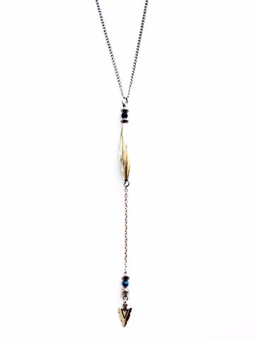 Beautiful Rebel Silver Tribal Necklace