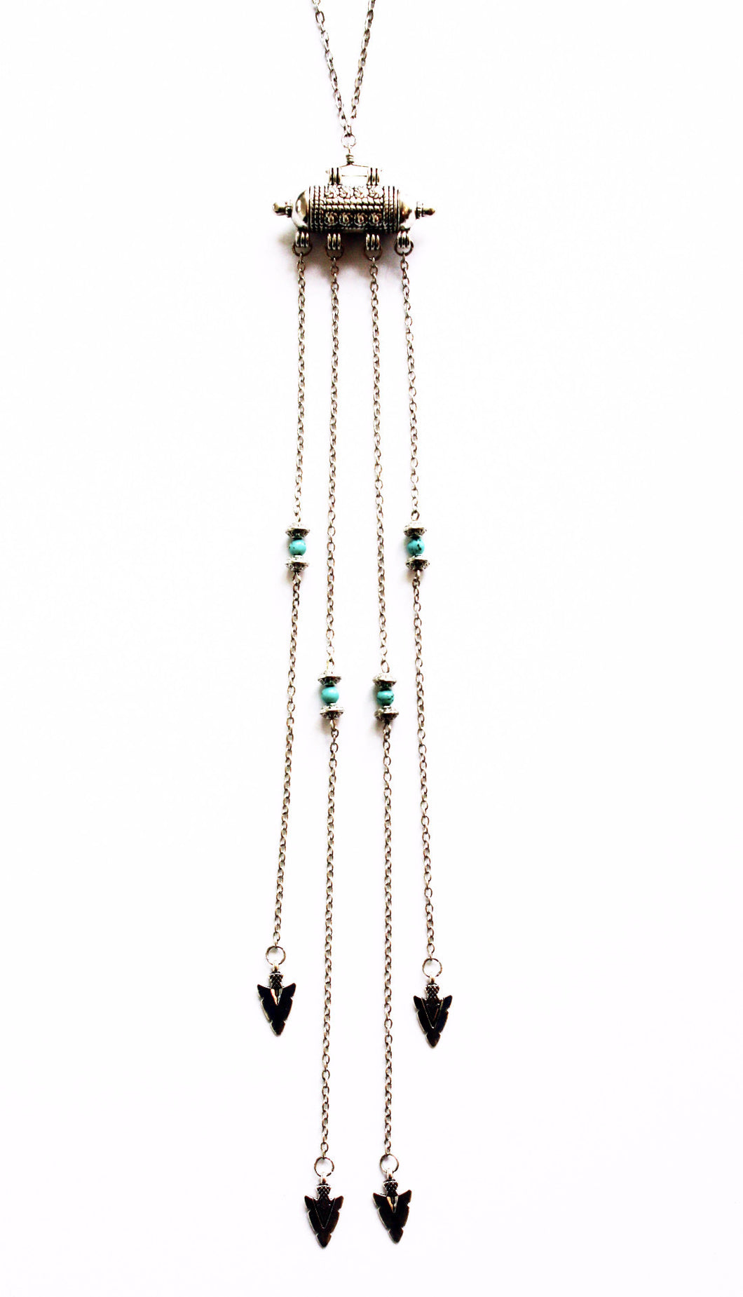 Beautiful Rebel Arrowhead Fringe Necklace