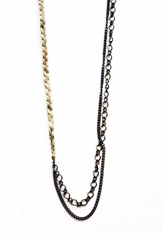 Wild Child Braided Chain Necklace