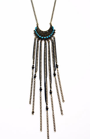 Wild Warrior Tribal Fringe Necklace