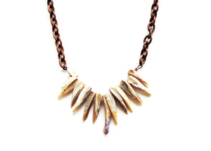 Ocean Rebel Small Shell Fringe Necklace