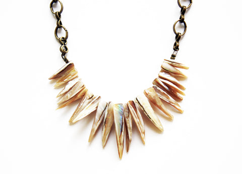 Ocean Rebel Shell Fringe Necklace