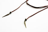 Rebel Wrap Leather Spike Choker Necklace