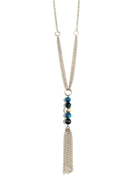 Starry Night Fringe Necklace