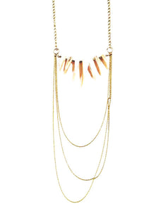 lover's sunset cascade chain shell fringe necklace