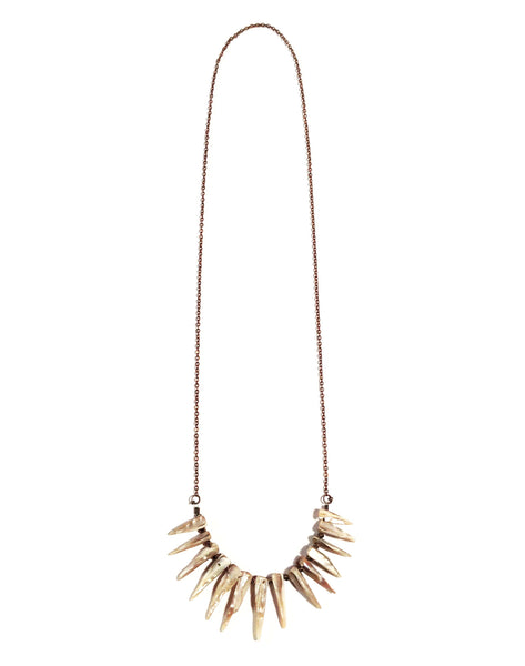 secret love shell fringe chain necklace
