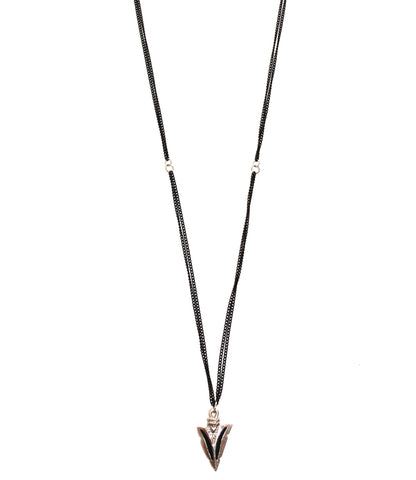 Night Rebel Double Chain Arrowhead Necklace