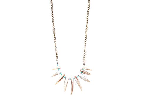 Wild Ocean Shell Fringe Necklace