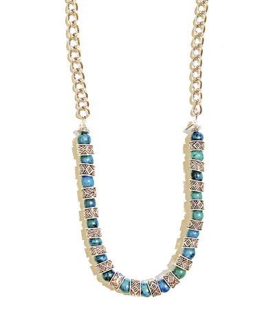 Wild Blue Moon Stone Necklace
