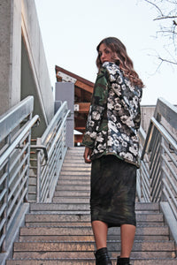 Bright Night Floral Camo Jacket