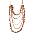 Daring Dreamer Multi-Chain Stone Necklace