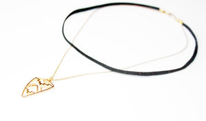 Day Dreamer Chain & Leather Choker Necklace