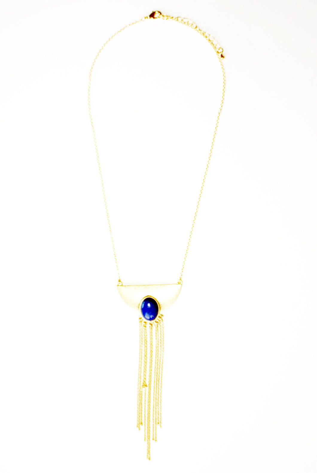 Bright Night Gold Fringe Necklace